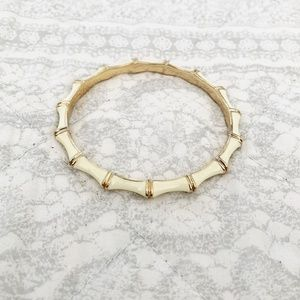 Stella & Dot Julep Bamboo Ivory Bangle Bracelet